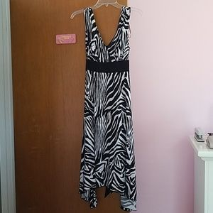Zebra Mid Length Dress